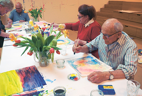 Painting Workshop at the Kunstmuseum