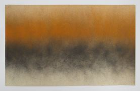 Bill Bollinger, Untitled (Orange/Black Spray Painting), ca. 1968, Kunstmuseum Liechtenstein, Vaduz © Estate Bill Bollinger